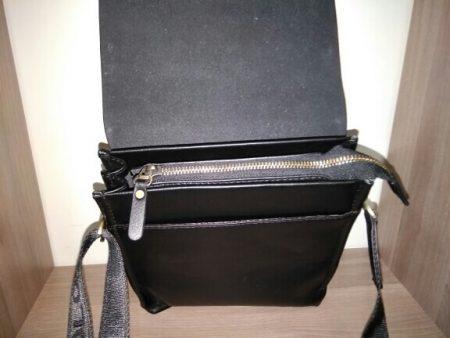 Мужская кожаная сумка через плечо с AliExpress замки