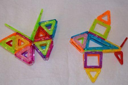 Детский магнитный конструктор с AliExpress бабочка
