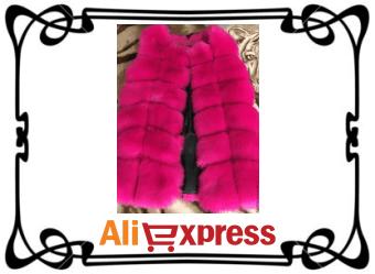 Женский меховой жилет с AliExpress