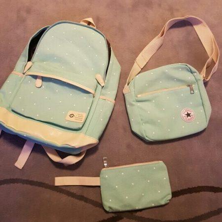 Комплект из трёх стильных женских сумок с AliExpress на картинке