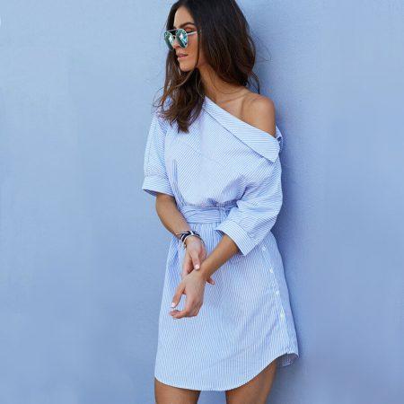 Модное женское летнее платье с AliExpress на картинке