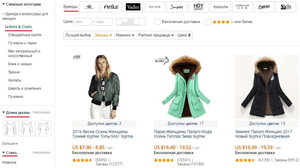 Купить женскую куртку на AliExpress