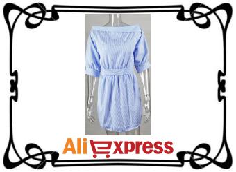 Модное женское летнее платье с AliExpress