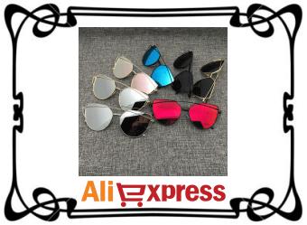 Стильные женские солнцезащитные очки с AliExpress