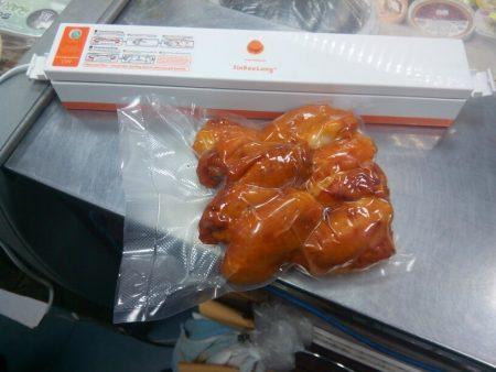 Вакуумная электрическая упаковочная машина с AliExpress курица