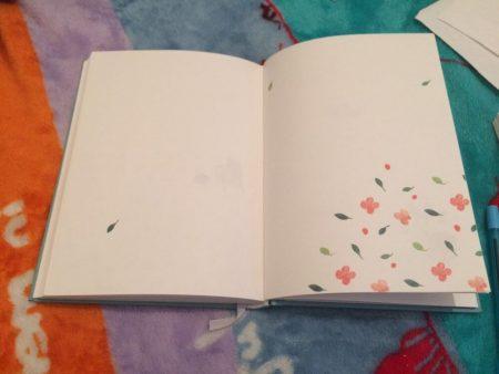 Обзор ежедневника с AliExpress цветки