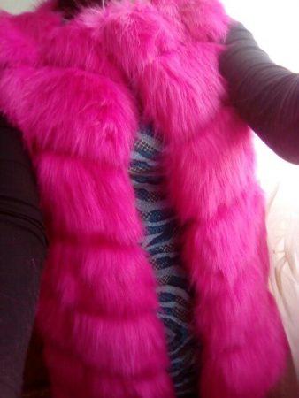 Женский меховой жилет с AliExpress фотка