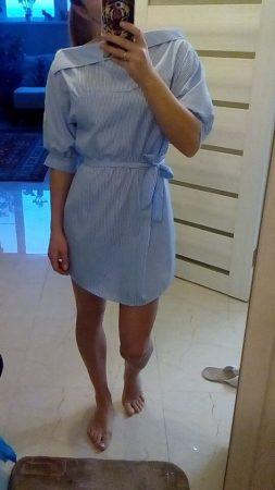 Модное женское летнее платье с AliExpress на девушке
