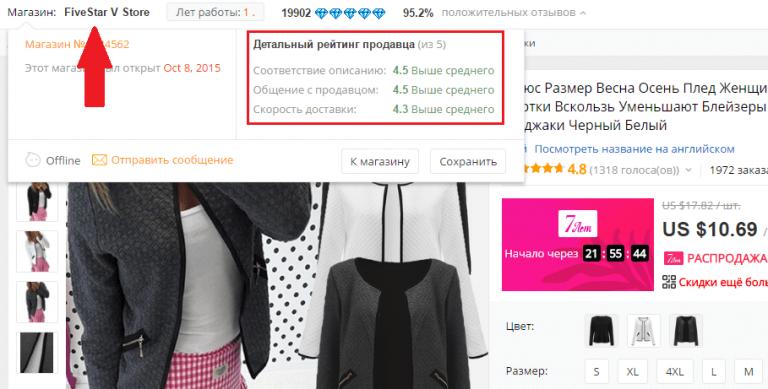 Проверенные продавцы женской одежды на алиэкспресс