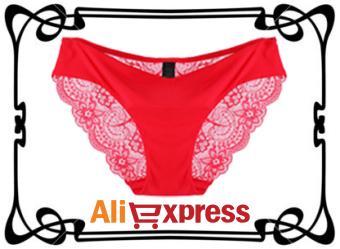 Женские сексуальные кружевные трусики с AliExpress