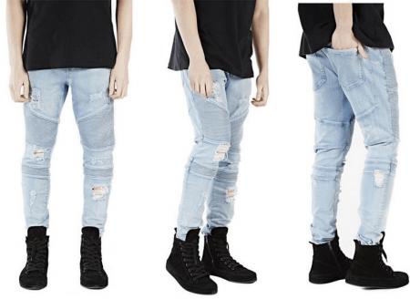 Модные мужские джинсы весна-лето с AliExpress на картинке