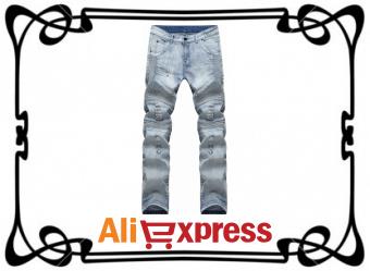 Модные мужские джинсы весна-лето с AliExpress