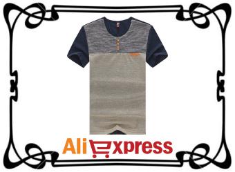 Мужская летняя футболка с AliExpress