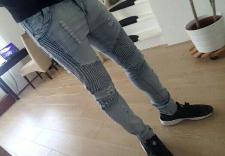 Модные мужские джинсы весна-лето с AliExpress на мне