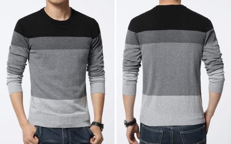 Стильный мужской пуловер с AliExpress на картинке