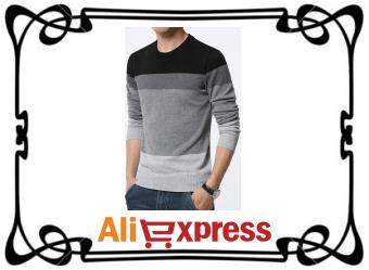 Стильный мужской пуловер с AliExpress