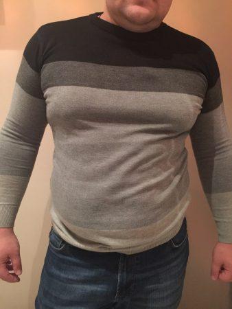 Стильный мужской пуловер с AliExpress на мне