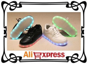 Светодиодные кроссовки для девушек и парней с AliExpress