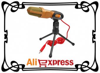 Конденсаторный студийный микрофон с AliExpress