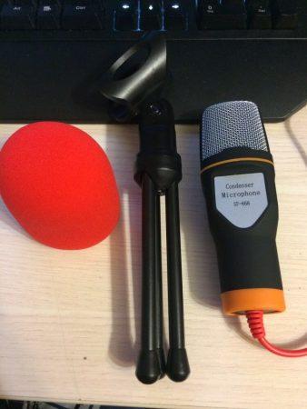 Конденсаторный студийный микрофон с AliExpress посылка