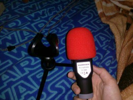 Конденсаторный студийный микрофон с AliExpress вид